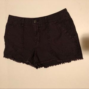 Free People distressed frayed shorts